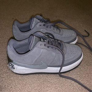 Grey Nike air forces